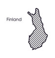 isolated finland map design vector image