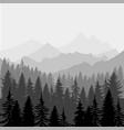 landscape panorama of mountains and fores vector image vector image