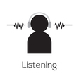 Listening Icon vector image vector image