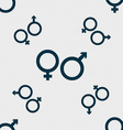 male and female icon sign Seamless pattern with vector image vector image