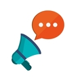 megaphone and conversation bubble icon vector image