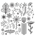 nature collection with flowers branches and vector image vector image