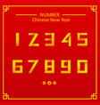 numeric with chinese background flat design vector image