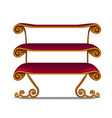 ornate shelving unit in vintage style isolated on vector image