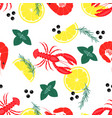 pattern with seafood vector image