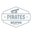 pirate cannon logo simple gray style vector image vector image
