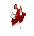 Portrait of Jesus Christ standing vector image vector image