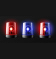 realistic ambulance flashing red and blue vector image vector image