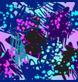 retro doodles and splashes vector image vector image