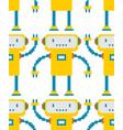 robot pixel art pattern seamless 8 bit cyborg vector image vector image