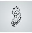 Rooster tatto ilustration Stylized head of a cock vector image vector image