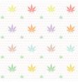 seamless marijuana cannabis pattern image vector image vector image