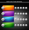 shiny web elements vector image vector image