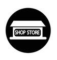 shop store icon vector image