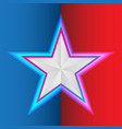 star on blue red background for flight vector image vector image
