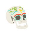 sugar skull traditional symbol of mexico vector image vector image