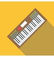 Synth icon flat style vector image vector image