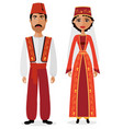 turkish couple man and woman vector image vector image