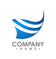 wings logo winged logo company and icon wing vector image vector image
