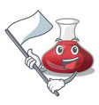 with flag red wine decanter isolated on mascot vector image