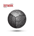 Dotwork Voleyball Sport Ball Icon made in vector image