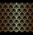 gold vintage pattern vector image
