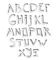 Hand Drawn Alphabet 03 A vector image