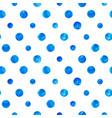 blue watercolor circles seamless pattern vector image