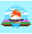 landscape of Mount Fuji vector image