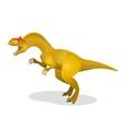Allosaurus differen lizard isolated on white vector image
