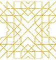 Golden seamless arabic pattern vector image