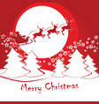 santa claus on a sleigh with deer vector image