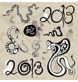 Year snakes symbol set vector image