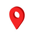 3d map pointer in flat style gps navigation mark vector image vector image