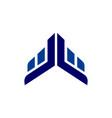 abstract building up arrow logo icon vector image vector image
