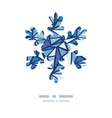 abstract ice chrystals Christmas snowflake vector image
