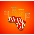 africa infographics design Africa map in vector image vector image