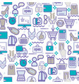 background with colorful shopping icons retail vector image vector image