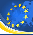 background with european union symbolics vector image