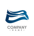 bird wings logo winged logo company and icon vector image vector image