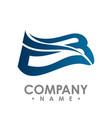 bird wings logo winged logo company and icon vector image