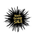 black friday in form a star drawn in the vector image vector image