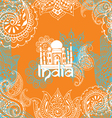 bright background with Indian patterns vector image vector image