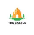 castle and green city logo designs vector image vector image