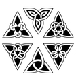 celtic trinity knot set vector image vector image