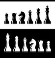 chess pieces icons vector image vector image