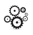 Cogs - Gears Black on White Background vector image vector image