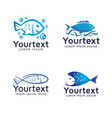 collection fish logos or icons design vector image