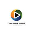 color video logo icon design vector image