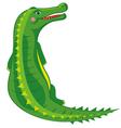 crocodile cartoon vector image vector image